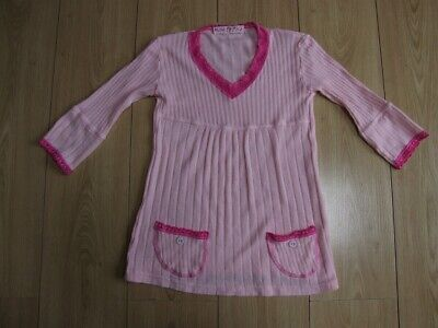 Lovely girls 'Little Dye House' pale pink ribbed top age 7-8