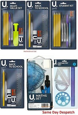 P2901 Back To School College Student Stationery Set 8 Pack MULTI VALUE SET