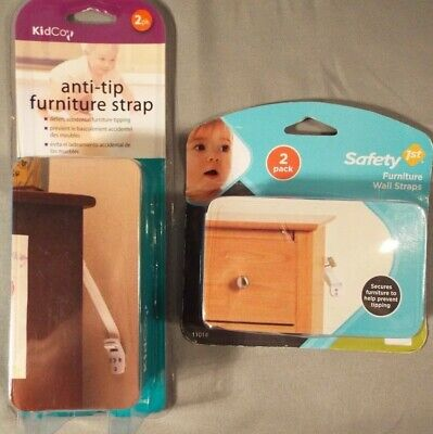 Anti-Tip Straps for Furniture Child Safety 2 sets Lot of 4 Safety 1st & KidCo. C