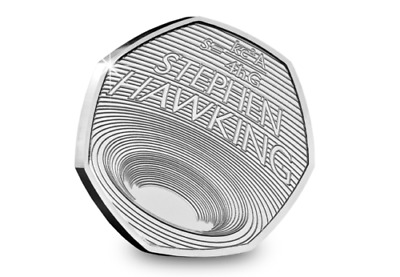 ***2019 UK Stephen Hawking brilliant uncirculated 50p pence(BUNC)***