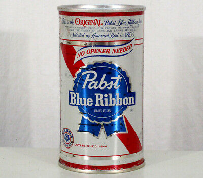 Pabst Blue Ribbon •Zip Top• Pull Tab No Opener Beer Can Newark New Jersey Nj Pbr
