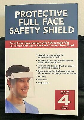 *Nib* Protective Full Face Safety Shield ~ 4 Pack