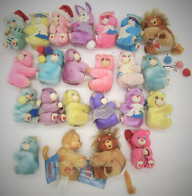 Lot of 20+ Care Bear Clippits Plus Brave Heart Lion Playful Heart Monkey w/ Tags