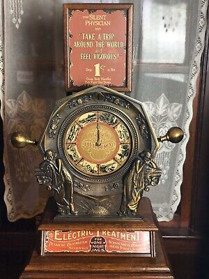 Vintage Mills Novelty Electricity is Life Imperial Shock Machine * Penny Arcade