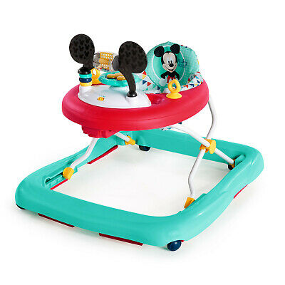 Bright Starts Disney Baby Mickey Mouse Baby Walker with Activity Station - Happy