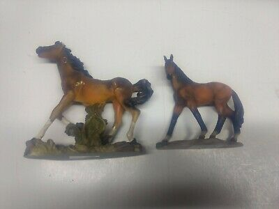 2 Small Horse Statues