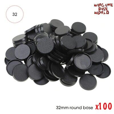 32mm Plastic bases table games 100pcs model bases 32mm round bases for wargames