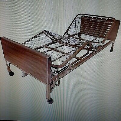 Full Electric Hospital Bed w/ Innerspring frame, Mattress and Two Half Rails.