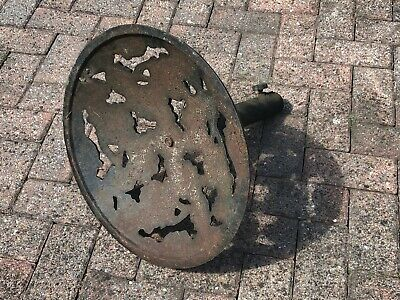 Old and heavy cast Iron Garden Umbrella Stand (Parasol Base Patio Outdoor) 12Kg