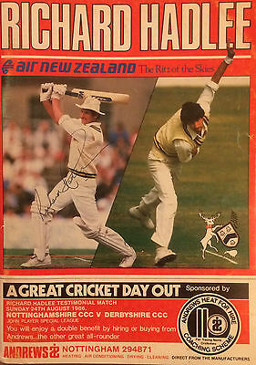Hand Signed RICHARD HADLEE Testimonial Book + signed Clive Rice Clive Lloyd