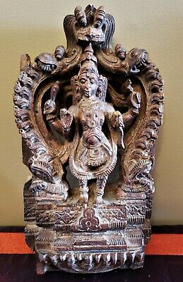 Antique Chariot Carving From India - Vishnu
