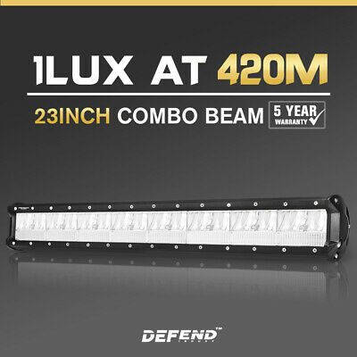 DEFEND INDUST 23inch Cree LED Light Bar Combo Driving Lamp Offroad 4WD SUV