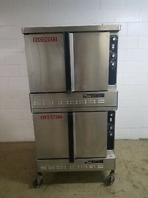 Blodgett DFG-100-3 Double Stack Dual Flow Full Size Conviction Ovens Tested 115v
