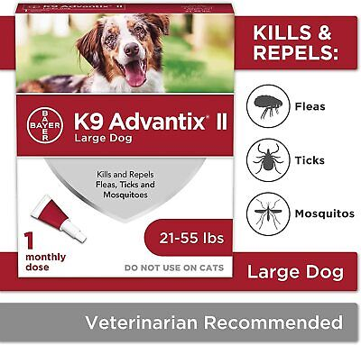 Bayer K9 Advantix II Flea,Tick and Mosquito Prevention for Large Dogs,21-55 lbs