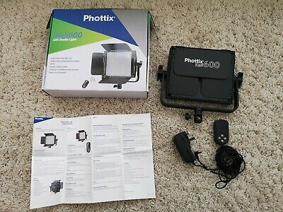 Phottix Kali600 Video Light LED Large. Opened to Test Photography Light Constant