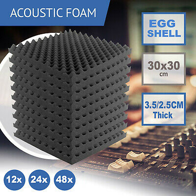 24/48 Acoustic Wall Panels Tiles Studio Sound Proofing Insulation Foam 30x30cm
