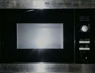 AEG MCD1751E Microwave Door complete Black Gloss with hinges and latches