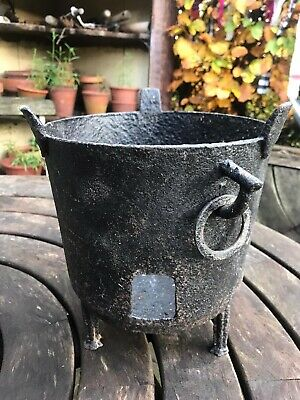 Brazier Antique French Cast Iron Garden Fire 19th Century