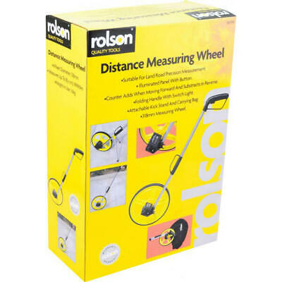 Rolson 50799 Distance Measuring Wheel with Stand Foldable in Bag