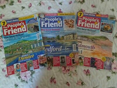 3 x The People's Friend Magazine  - February/April 2017