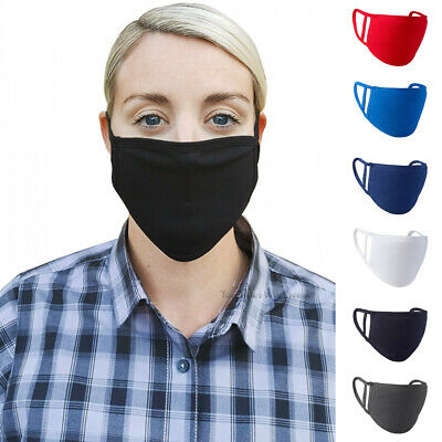 Face Mask Washable Cover Shield Breathable Reusable Double Layer Protection