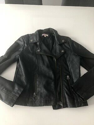 Girls's Faux Leather Jacket From Debenhams Age 11 Great Cond