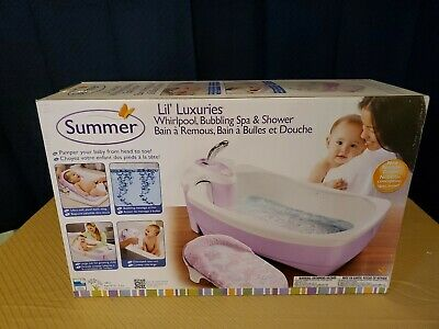 Whirlpool BubBling Spa & Shower Infant Baby Toddler Wash Shower Bath Tub  - Pink