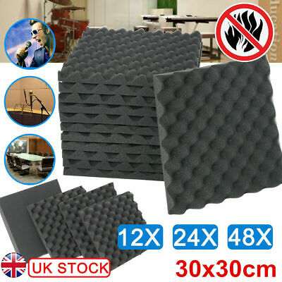 12/24/48 Acoustic Wall Panel Tiles Studio Sound Proofing Insulation Foam 30x30cm