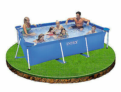 Frameset Swimming Pool Rectangle 2.2m x 1.5m 60cm Deep 439 Gallons Intex 28270