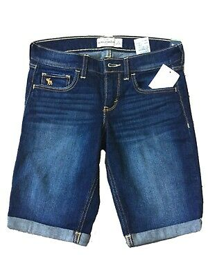 abercrombie and fitch Low Rise Denim Jean Shorts Age 14 Kids BNWT
