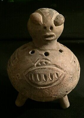 "Unique Pre-columbian Clay "" UFO"" , lake Cuitzeo, Mexico"