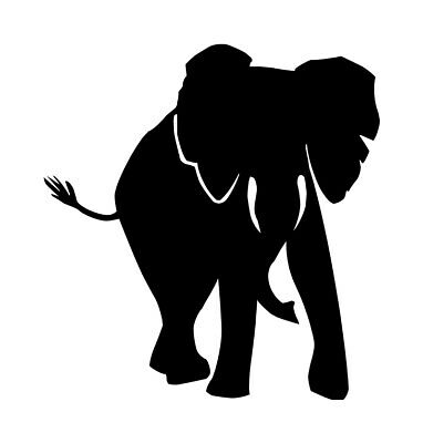 CRAFT PROJECTS /& MORE ELEPHANT FAMILY SILHOUETTE DIE CUTS FOR CARD MAKING