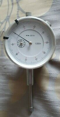 "1"" Dial Indicator Imperial Plunger Gauge Measure DTI Lug-Back"