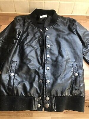 Girls Smart Leather Look Jacket Sized 14 Years Good Condition