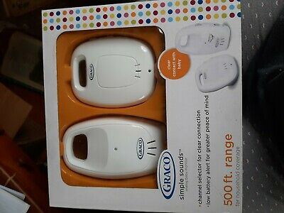 Graco Simple Sounds Analog Baby Monitor - New
