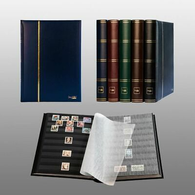 stamp album (new) 60 black sides, blue cover