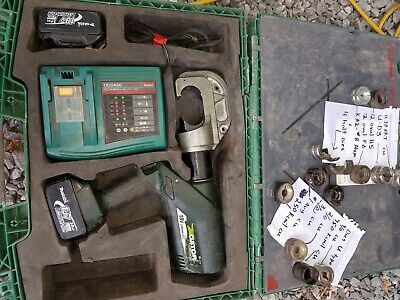 Greenlee Gator 12 Ton Cable Press With Various Dies