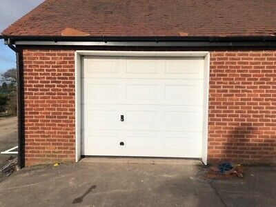 White Insulted Sectional Garage Doors With Electric Motors X 3 Hormann