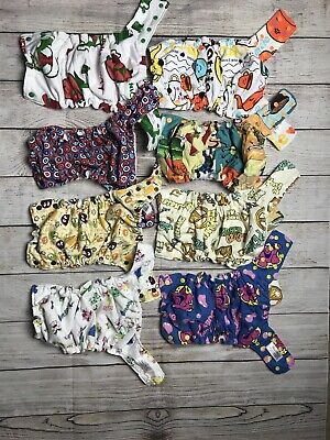 Lot Of 8 Diaper Change Pocket Cloth Diapers Large