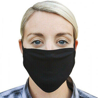 Breathable Cotton Face Mask Washable Nose Mouth Cover Protection Double Layer UK