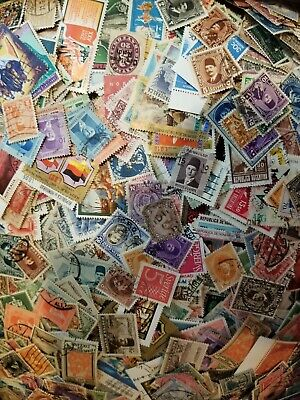 WORLDWIDE USED OVER 1000 OFF-PAPER STAMPS - Early to 1980