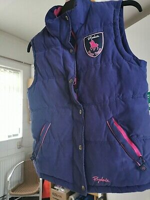 Girls padded body warmer age 13 purple with pink trim Rydale