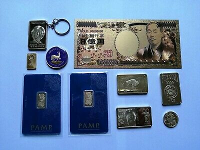 House Clearance Item, Job Lot, Gold Coins Bars