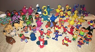50+ Lot of Sesame Street Muppets PVC Figures Toys~Cake Toppers~Farm Animals~EUC!