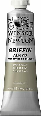 Winsor & Newton Griffin 37ml Alkyd Fast Drying Oil Colour Tube - Davy's Gray
