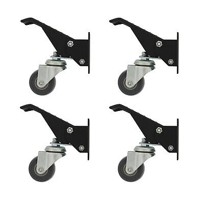 Clearance-DCT Heavy-Duty Workbench Cart Swivel Caster Wheels with Mounting