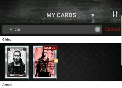 The Walking Dead Card Trader 2x Alicia Silver Gilded
