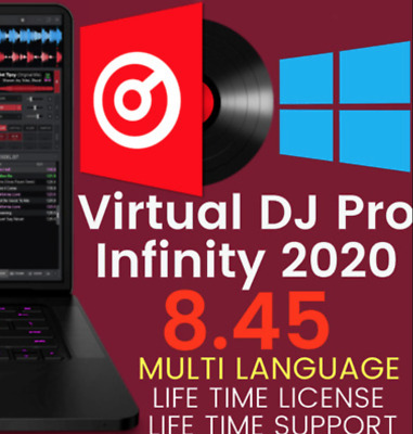 Virtual DJ Pro Infinity 2020 8.4.5 🎵Instant Delivery✅Windows🔑Lifetime License