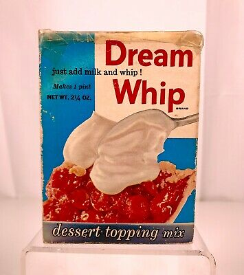 Vintage Dream Whip Dessert Topping Retro Kitchen Product Package Advertising Old
