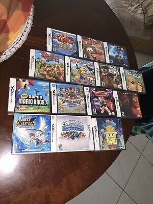 Nintendo DS Game Case LOT 33 video Game Cases  BOX ONLY! Super Mario, One W/game
